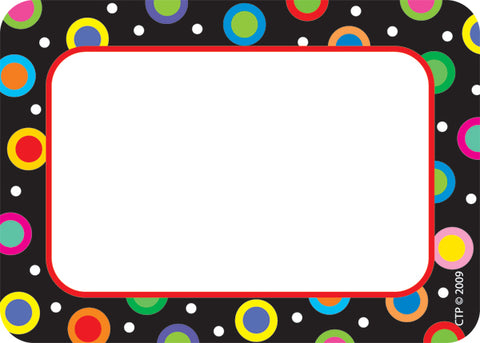 Dots on Black Labels - Pack of 36