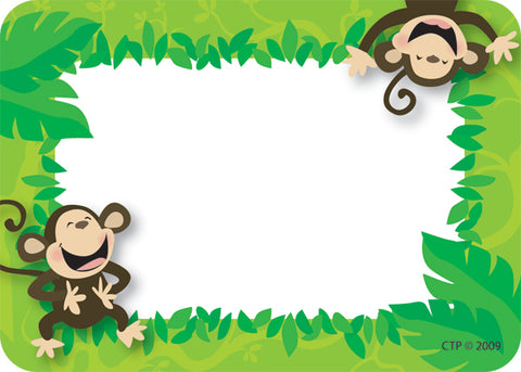Monkey Business Labels - Pack of 36