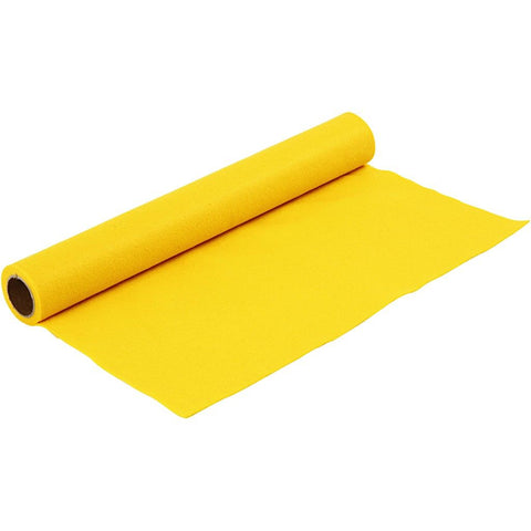 Craft Felt Roll - Yellow 1 Metre 180-200 g/m2