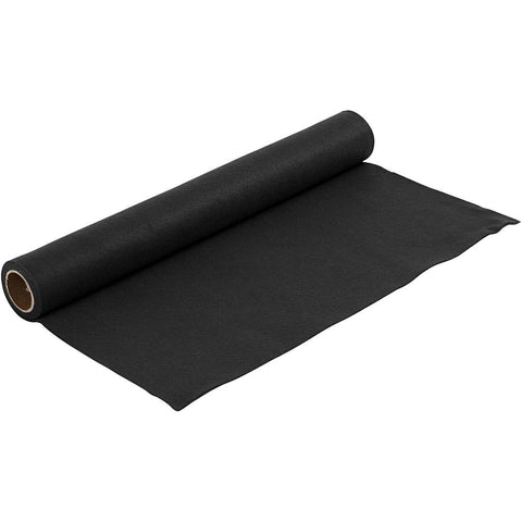 Craft Felt Roll - Black 1 Metre 180-200 g/m2