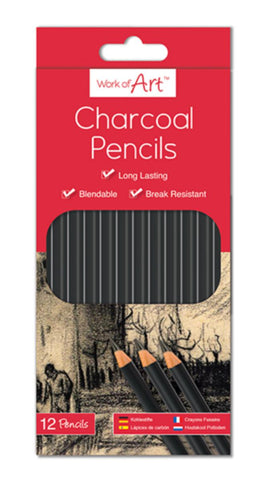 Work of Art Charcoal Pencils Pack of 12