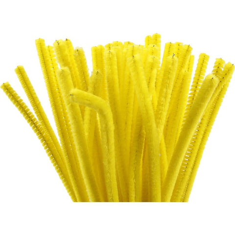 Pipe Cleaners - Yellow - 30cm Pack of 50