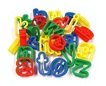 Alphabet Dough Cutters a-z Lower Case - Set of 26