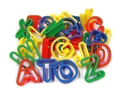 Alphabet Dough Cutters A-Z Upper Case - Set of 26