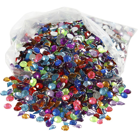 Rhinestones Size 5mm 3000 Assorted Colours Mixed Pack