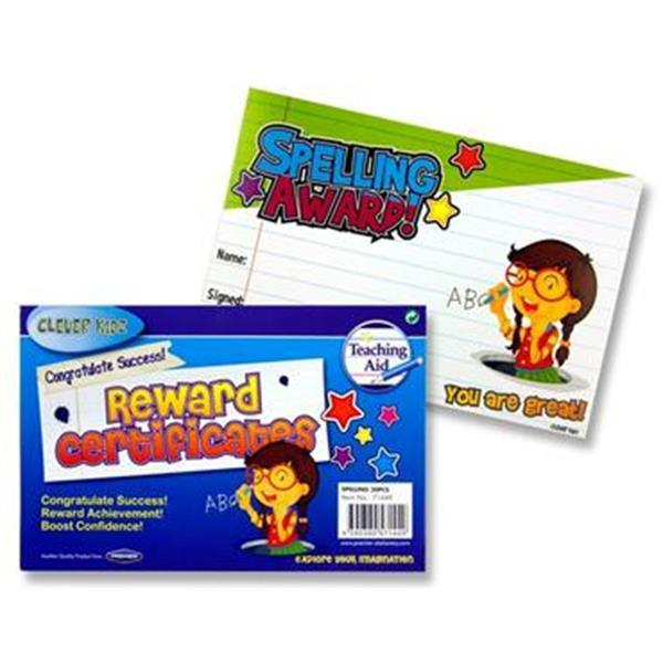 Reward Certificates Spelling Award Pack Of 30 Schoolquip