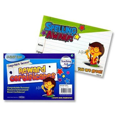 Reward Certificates - Spelling Award - Pack of 30