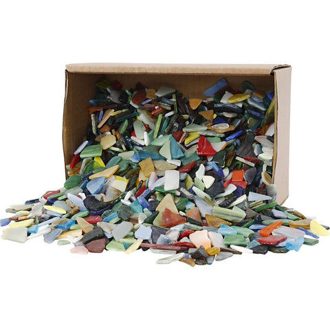 Mosaic Pieces - Assorted Colours - 2kg