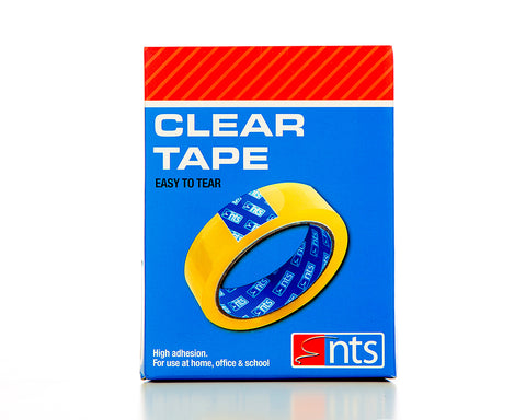 NTS Clear Tape 25mm x 66m Pack of 6