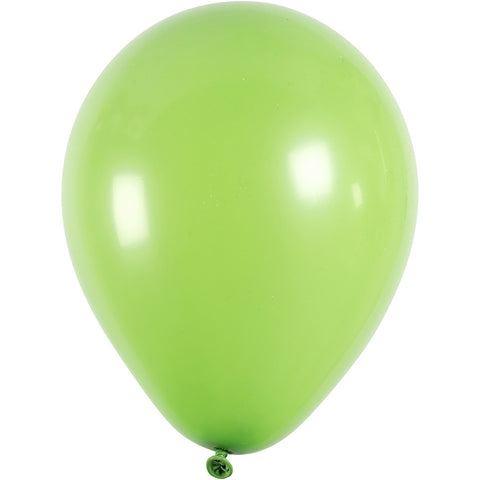 Balloons - Round Green 23cm Pack of 10