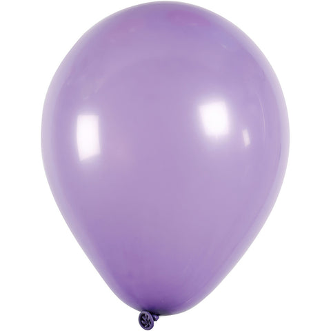 Balloons - Round Purple 23cm Pack of 10