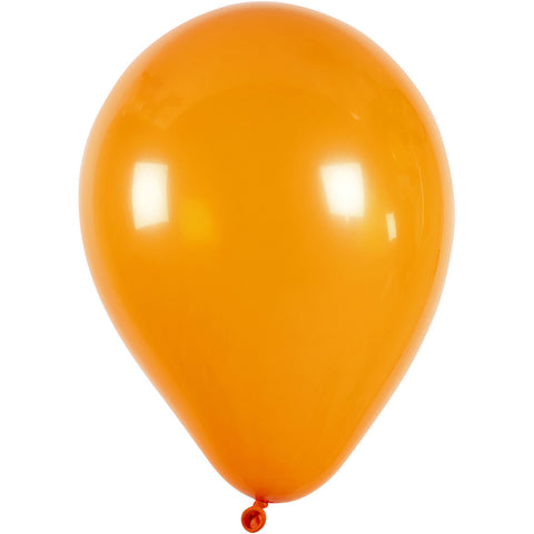 Balloons - Round Orange 23cm Pack of 10