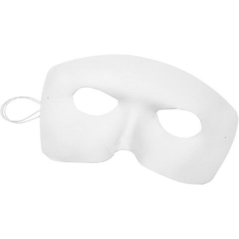 Harlequin Masks - White Pack of 12