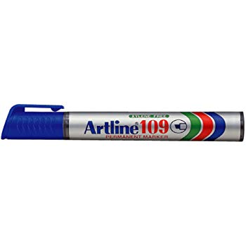 Artline Permanent Marker 109 - Blue Chisel Tip Box 12