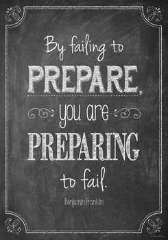 By failing to prepare… Inspire U Poster
