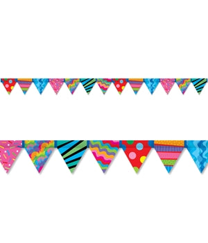 Poppin' Patterns Pennant Border