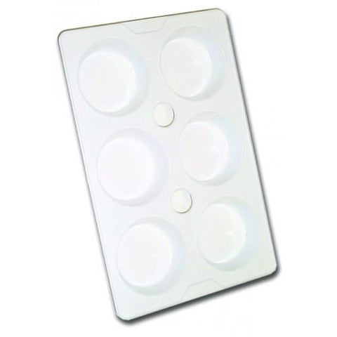 6 Well Economy Plastic Paint Palette