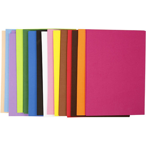 EVA Foam Sheets A4 Assorted 30 Sheets