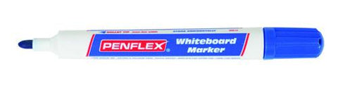 Penflex Whiteboard Markers Blue Bullet Tip WB15 – Box of 10
