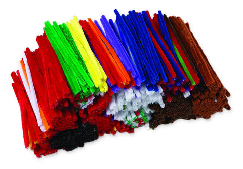 Pipe Cleaners - Assorted Colours 15cm Bulk Pack of 1000