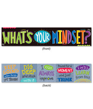"What's Your Mindset? Banner (2-sided) - 39"" x 8"""