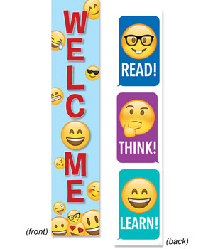 "Emoji Fun Banner (2-sided) - 39"" x 8"""
