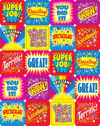 Positive Words Motivational Stickers - Pack of 120