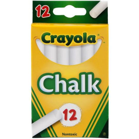 Crayola Anti-Dust White Chalk 12 Pack