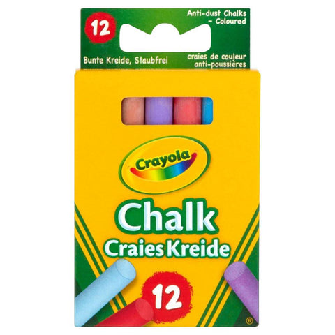 Crayola Anti-Dust Colour Chalk 12 Pack