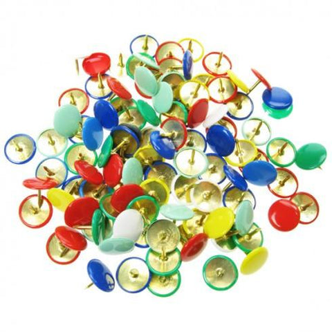 Drawing Pins - Assorted Colours - Tub of 350