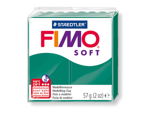 Fimo Soft Polymer Clay -  Emerald 56g