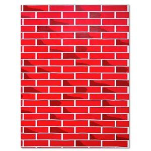 Fadeless Paper Roll Tu-Tone Red Brick 121.9cm x 3.6m
