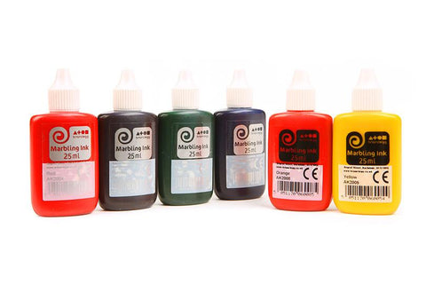 Marbling Ink - Standard Assorted Colours - Set of 6