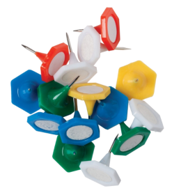 Indicator Pins - Assorted Colours - Tub of 70