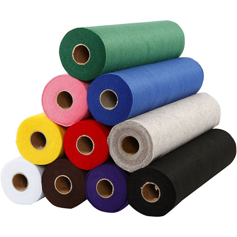 Craft Felt Assorted Set of 10 x 5 Metre Rolls