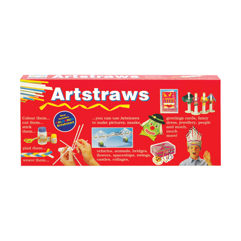 Artstraws Starter Pack Assorted Colours & White - Long 4mm & 6mm (Diameter)