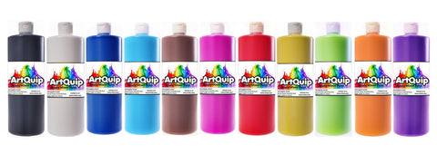 Assorted Set of 10 Colours - ArtQuip Ready Mixed Paint - 500ml