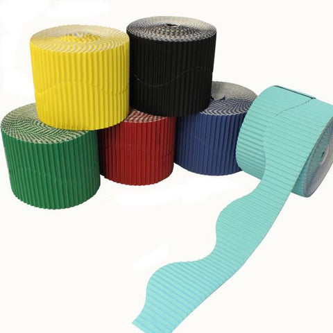 Bordette Corrugated Display Roll - Assorted Pack of 6 x (2 x 7.5m) 15 Metres