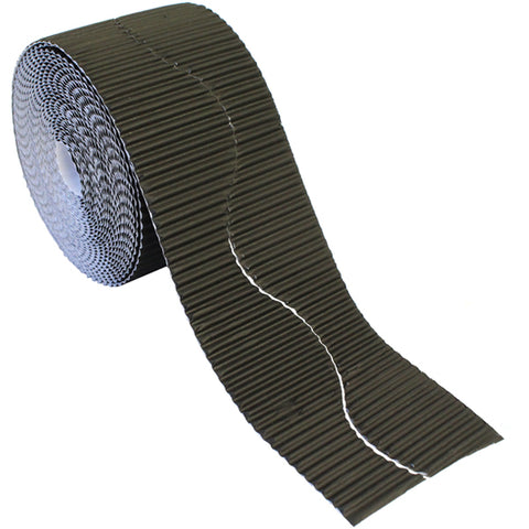 Bordette Corrugated Display Roll - Black (2 x 7.5m) 15 Metres