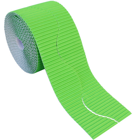 Bordette Corrugated Display Roll - Apple Green (2 x 7.5m) 15 Metres