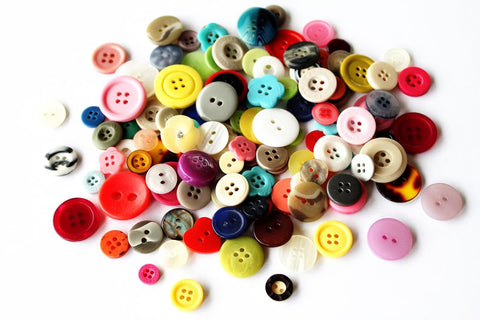 Buttons - Assorted Shapes & Sizes - 500g