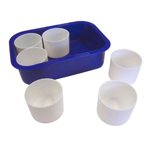 Plastic Tray with 6 Pots