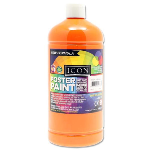 Icon Art Poster Paint 1 Litre - Orange