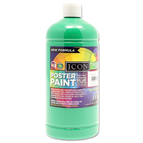 Icon Art Poster Paint 1 Litre - Emerald Green