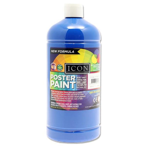 Icon Art Poster Paint 1 Litre - Ultramarine Blue