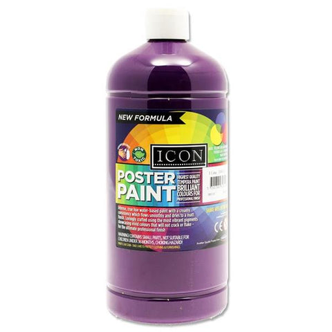 Icon Art Poster Paint 1 Litre - Violet