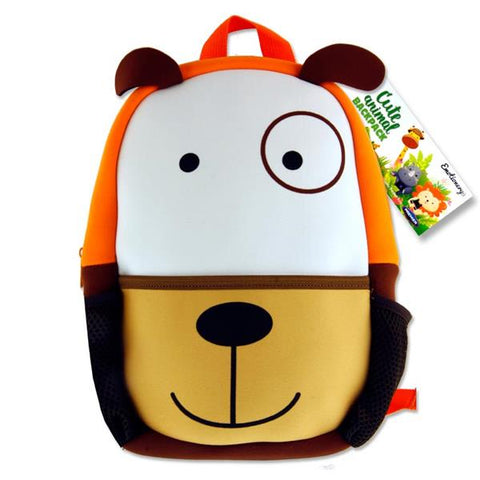 Emotionery Neoprene Cute Animal Junior School Bag - Dog