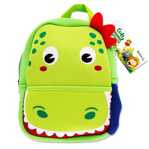 Emotionery Neoprene Cute Animal Junior School Bag - Dinosaur