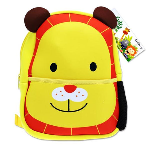 Emotionery Neoprene Cute Animal Junior School Bag - Lion