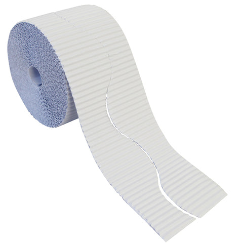 Bordette Corrugated Display Roll - White (2 x 7.5m) 15 Metres
